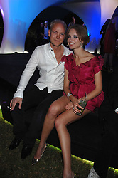 The HON.JUSTIN PORTMAN and NATALIA VODIANOVA at the annual Serpentine Gallery Summer Party in association with Swarovski held at the gallery, Kensington Gardens, London on 11th July 2007.<br /><br />NON EXCLUSIVE - WORLD RIGHTS