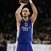 Anadolu Efes's Nenad Krstic during their Turkish Airlines Euroleague Basketball Top 16 Round 3 match Anadolu Efes between CSKA Moscow at Abdi ipekci arena in Istanbul, Turkey, Thursday 15, 2015. Photo by Aykut AKICI/TURKPIX