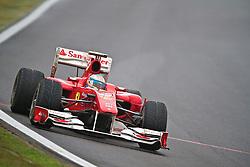 O piloto espanhol Fernando Alonso acelera sua Ferrari durante o Grande Prémio do Brasil de Fórmula 1, em Interlagos, São Paulo. FOTO: Jefferson Bernardes/Preview.com