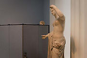 A 1st or 2nd century Roman statue of Venus discovered by painter and dealer Gavin Hamilton at Ostia in 1775, on 12th June 2018, in London, England.