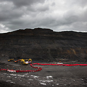 Environmental activists stopped the open cast coal mine Ffos-y-Fran near Merthyr Tydfil, Wales from operating. The activists from Reclaim the Power wants to shut down the mine and a moratorium on all future open coal mining in Wales. Open coal mining is hugely damaging to the environment and  contributing to global climate change.