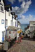 The quaint village of Clovelly in north Devon