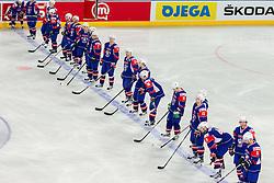 Slovenia team during ice-hockey match bewteen Great Britain and Slovenia at IIHF World Championship DIV. I Group A Slovenia 2012, on April 15, 2012 in Arena Stozice, Ljubljana, Slovenia. (Photo by Vid Ponikvar / Sportida.com)