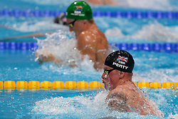 July 26, 2017 - Budapest, Hungary - Adam Peaty (GBR) competes and celebrates his Gold medal on Men's 50 m Breaststroke final during the 17th FINA World Championships, at Duna Arena, in Budapest, Hungary, Day 13, on July 26th, 2017. (Credit Image: © Foto Olimpik/NurPhoto via ZUMA Press)