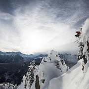 Skier Nicolas Falquet at his home mountain Les Marecottes