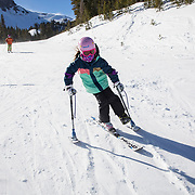 """Kathy Copeland and her husband, Jack, run the Disabled Sports Eastern Sierras (DSES) program at Mammoth Mountain in California. Kathy, 67, and Jack, 66, both """"retired"""" from previous jobs working on the mountain as executives and ski program instructors but quickly realized they had too much energy and sought to work with disabled skiers and snowboarders. <br /> <br /> The program works with all abilities including those who need special equipment, but also with students who occupy all ranges on the Autism spectrum. Both Kathy and Jack oversee the program and work directly with participants, while Jack also works to train the volunteers on how to teach the disabled participants. <br /> <br /> DSES participants receive individual specialized instruction from Kathy, Jack and their staff on the mountain."""