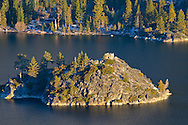 The Tea House on island in Emearld Bay, Lake Tahoe, California