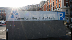 An outside view of the American Hospital Of Paris in Neuilly-surSeine in the outskirts of Paris, France, February 20, 2019. Chanel designer Karl Lagerfeld has died at the age of 85. It is understood he was admitted to the American Hospital in Paris on Monday and died there on Tuesday after a period of ill-health, according to local reports. Photo by Marie Hubert Psaila/ABACAPRESS.COM