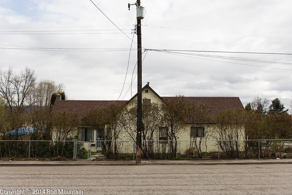Modest home near 27th Street in Vernon, British Columbia.