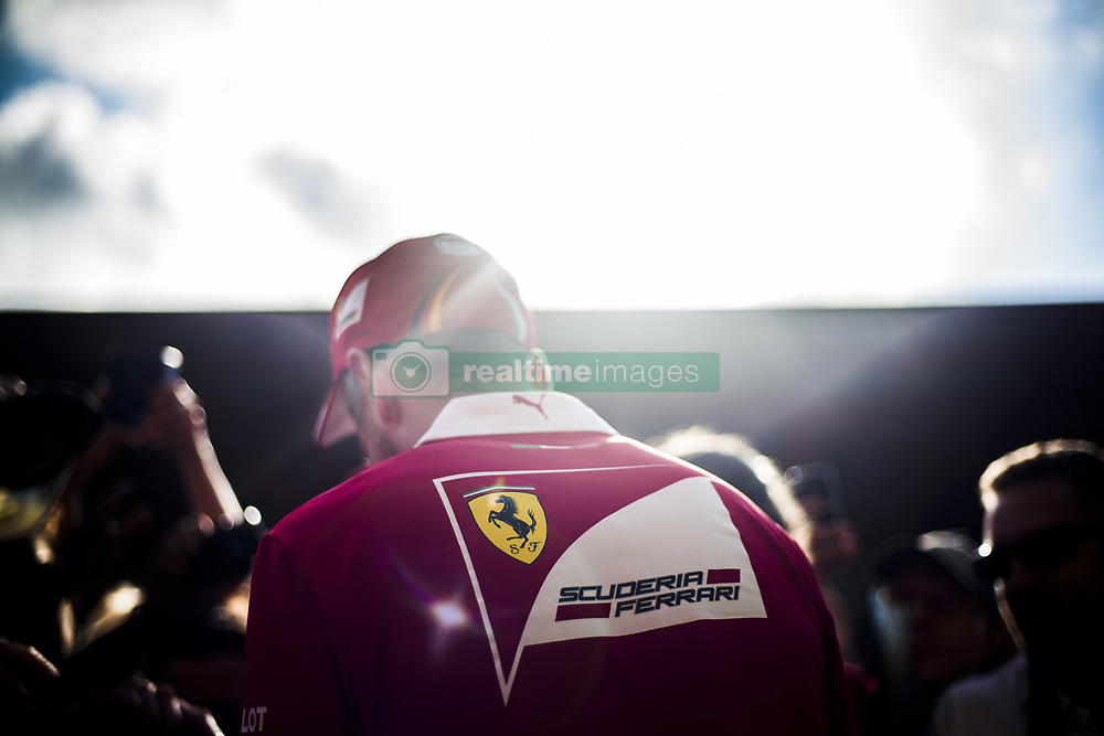 August 24, 2017 - Spa, Belgium - 05 VETTEL Sebastian from Germany of scuderia Ferrari signing autographs during the Formula One Belgian Grand Prix at Circuit de Spa-Francorchamps on August 24, 2017 in Spa, Belgium. (Credit Image: © Xavier Bonilla/NurPhoto via ZUMA Press)