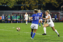 04 November 2016:  Angel Krell(27) during an NCAA Missouri Valley Conference (MVC) Championship series women's semi-final soccer game between the Indiana State Sycamores and the Illinois State Redbirds on Adelaide Street Field in Normal IL