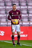 Michael Smith (#2) of Heart of Midlothian FC during the SPFL Championship match between Heart of Midlothian and Inverness CT at Tynecastle Park, Edinburgh Scotland on 24 April 2021.