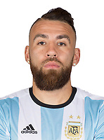 Conmebol - World Cup Fifa Russia 2018 Qualifier / <br /> Argentina National Team - Preview Set - <br /> Nicolas Otamendi