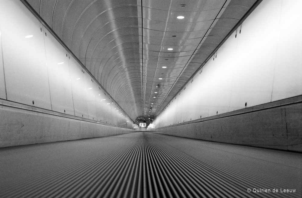 Traveling through tunnel