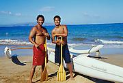 Outrigger Canoe, Polo Beach, Makena, Wailea, Maui, Hawaii
