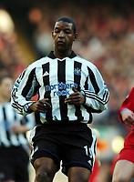 Fotball<br /> Premier League 2004/05<br /> Liverpool v Newcastle<br /> 19. desember 2004<br /> Foto: Digitalsport<br /> NORWAY ONLY<br /> Titus Bramble<br /> Newcastle United 2004/05