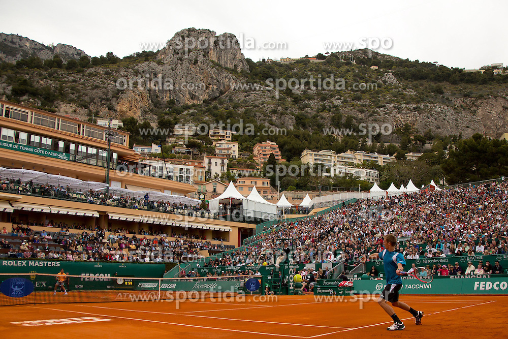 18.04.2012 Country Club, Monte Carlo, MON, ATP World Tour, Rolex Masters, 2. Runde, im Bild \2 in action during the second round match between Rafael Nadal (ESP) and Jarkko Nieminen (FIN) // at the Rolex Masters tennis tournament second Round of ATP World Tour at Country Club, Monte Carlo, Monaco on 2012/04/17. EXPA Pictures © 2012, PhotoCredit: EXPA/ Mitchell Gunn