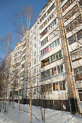 Apartment blocks in Tynda, Siberia, Russia