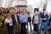 visitors in a wine cellar couvent des jacobins saint emilion bordeaux france