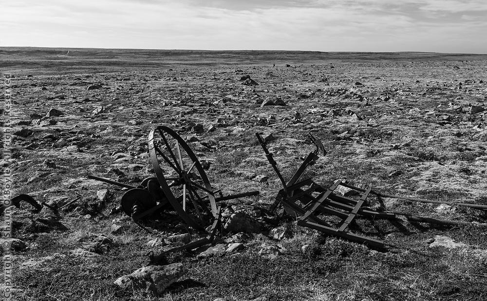 Ruins at Camp Greely, a US WW2 radar station near Skalar, Langanes Peninsula