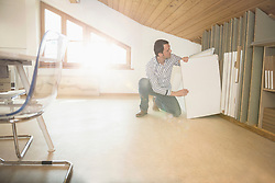 Architect searching canvas in the office, Bavaria, Germany
