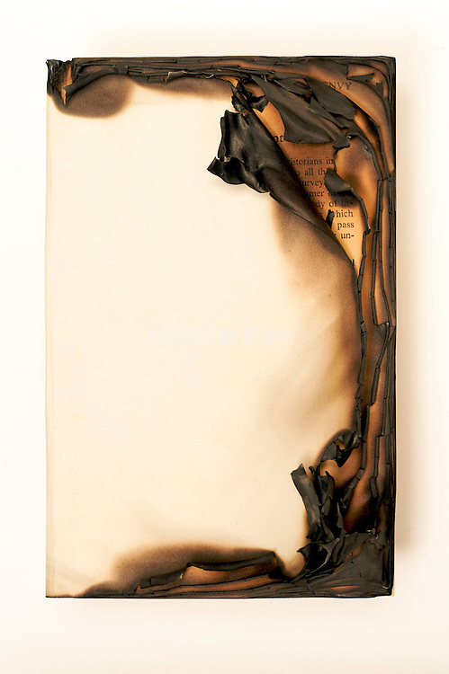 partly burned book
