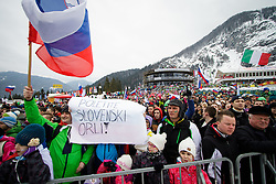 Spectators during the Ski Flying Hill Individual Competition at Day 1 of FIS Ski Jumping World Cup Final 2016, on March 17, 2016 in Planica, Slovenia. Photo by Ziga Zupan / Sportida