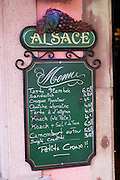 chalk board restaurant colmar alsace france