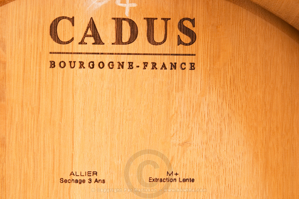 """Cadus Tonnellier (cooperage) Bourgogne, France. Very well specified on the barrel what it is: Allier oak, dried for 3 years (sechage 3 ans) with medium plus toasting (chauffe M+, moyenne plus), and """"extraction lente (slow extraction?...) - Chateau Haut Bergeron, Sauternes, Bordeaux"""
