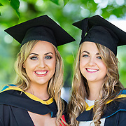 26.08.2016        <br /> University of Limerick Interfaculty Conferring Ceremony.<br /> <br /> Attending the conferring ceremony were Bachelor of Science (Education) in Biological Sciences graduates, Emily Aherne, Ballymacoda Co. Cork and Aoife O'Hara, Portumna Co. Galway. Picture: Alan Place.