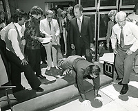 1974 Jack Nicholson's handprint ceremony at Grauman's Chinese Theater