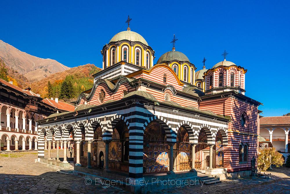 Rila Monastery in autumn time