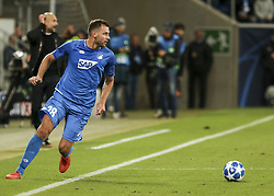 October 2, 2018 - France - Adam Szalai, during the UEFA Champions League group F football match between TSG 1899 Hoffenheim and Manchester City at the Rhein-Neckar-Arena in Sinsheim, southwestern Germany, on October 2, 2018. (Credit Image: © Panoramic via ZUMA Press)