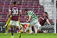 GOAL 1-1 Anthony Ralston (#56) of Celtic FC scores the equalising goal for Celtic during the Cinch SPFL Premiership match between Heart of Midlothian FC and Celtic FC at Tynecastle Park, Edinburgh, Scotland on 31 July 2021.