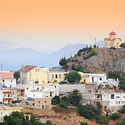 Selia in the evening. Traditional Greek village, Crete, Greece