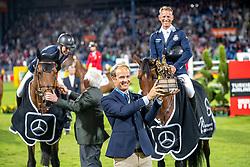 Team Schweden<br /> Aachen - CHIO 2019<br /> Siegerehrung<br /> Mercedes-Benz Nationenpreis<br /> Mannschaftsspringprüfung mit zwei Umläufen<br /> 2. Runde/Second Round<br /> 18. Juli 2019<br /> © www.sportfotos-lafrentz.de/Stefan Lafrentz