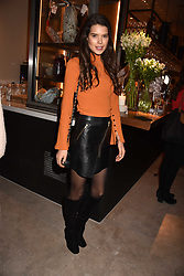 Sarah Ann Macklin at the launch of Fiume at Battersea Power Station, Battersea, London England. 16 November 2017.<br /> Photo by Dominic O'Neill/SilverHub 0203 174 1069 sales@silverhubmedia.com