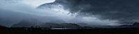 Dark mood sky during autumn storm, Gimsøy, Lofoten Islands, Norway