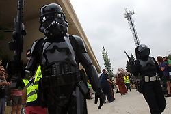 June 10, 2017 - Benefit parade of the 501 legion of Star Wars through the streets of Malaga in favor of the Association Nena Paine (Credit Image: © Fotos Lorenzo Carnero via ZUMA Wire)