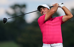 September 20, 2018 - Atlanta, Georgia, United States - Francesco Molinari tees off the 16th hole during the first round of the 2018 TOUR Championship. (Credit Image: © Debby Wong/ZUMA Wire)