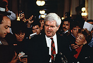 Washington, DC 1994/12/13  A day in the life of House Speaker Newt Gingrich.<br />Photo by Dennis Brack