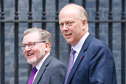 © Licensed to London News Pictures. 18/07/2017. Scottish Secretary DAVID MUNDELL and Transport Secretary CHRIS GRAYLING attend a cabinet meeting in Downing Street, London on Tuesday, 18 July 2017 London, UK. Photo credit: Tolga Akmen/LNP