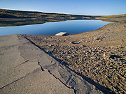 Limited Editions of 8<br /> Floating dock beached at Moonstone Landing where Camas Creek feeds into Magic Reservoir in Southwest Idaho