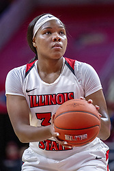 NORMAL, IL - December 20: Simone Goods during a college women's basketball game between the ISU Redbirds and the St. Louis Billikens on December 20 2018 at Redbird Arena in Normal, IL. (Photo by Alan Look)