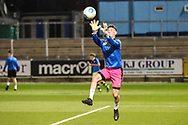 Forest Green Rovers goalkeeper Declan Lehman(1) warming up during the The FA Youth Cup match between Bristol Rovers and Forest Green Rovers at the Memorial Stadium, Bristol, England on 2 November 2017. Photo by Shane Healey.