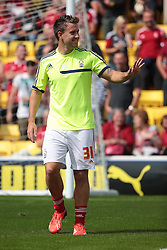 Nottingham Forest's Simon Cox  - Photo mandatory by-line: Nigel Pitts-Drake/JMP - Tel: Mobile: 07966 386802 25/08/2013 - SPORT - FOOTBALL -Vicarage Road Stadium - Watford -  Watford v Nottingham Forest - Sky Bet Championship