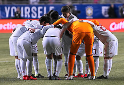 February 28, 2019 - Chester, United States - Japan team huddle .during the She Believes Cup football match between The United States and Japan at Talen Energy Stadium on February 27, 2019 in Chester, Pennsylvania, United States. (Credit Image: © Action Foto Sport/NurPhoto via ZUMA Press)