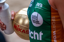 Mikasa golden ball during the third day of the beach volleyball event King of the Court at Jaarbeursplein on September 11, 2020 in Utrecht.
