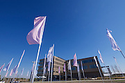 Vienna, Austria. Seestadt Aspern.<br /> Green house: Technologiezentrum (Technology Center) aspern IQ.<br /> marking[off] by Fritz Ganser