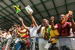 adidas Grand Prix Diamond League Track & Field: Jamaican fans cheer for Usain Bolt